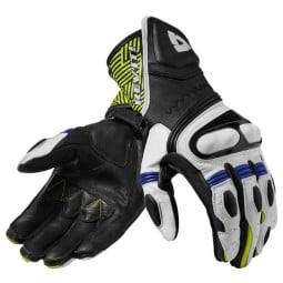 Motorcycle Leather Gloves REVIT Metis Black Blue