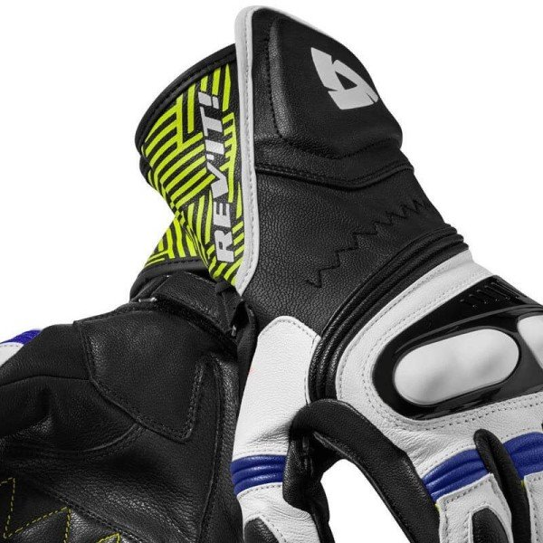 Motorcycle Leather Gloves REVIT Metis Black Blue