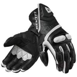 Motorcycle Leather Gloves REVIT Metis Black white ,Motorcycle Leather Gloves