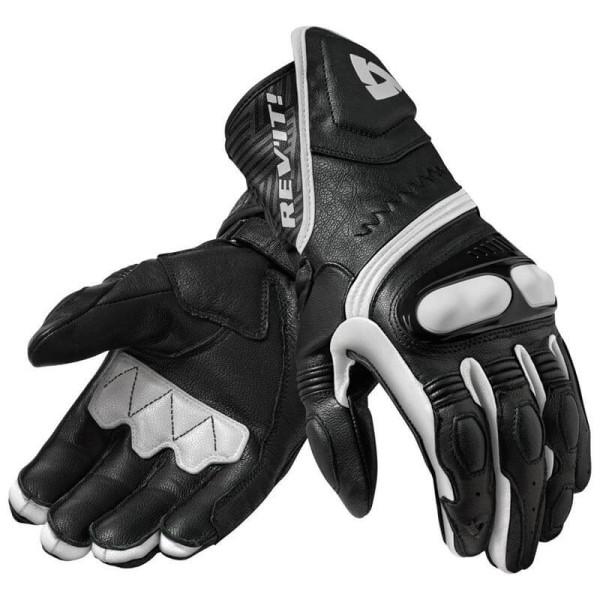Motorrad-Handschuhe REVIT Metis Schwarz weiss