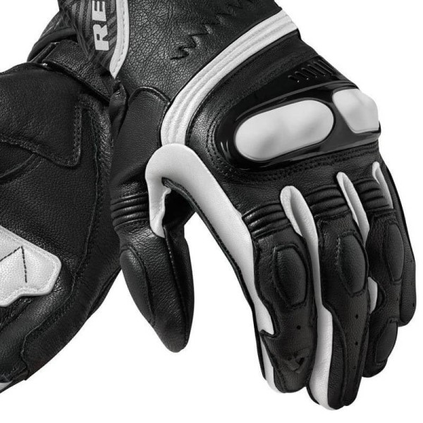 Gants Moto Cuir REVIT Metis Noir blanc