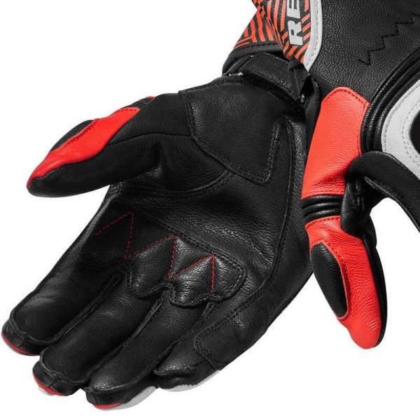 Guantes Cuero Moto REVIT Metis Negro rojo