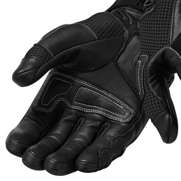 Motorcycle Leather Gloves REVIT Dirt 3 Black