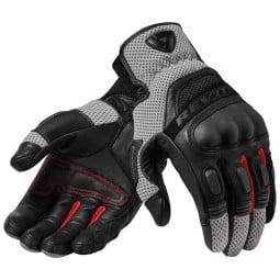 Guanti Moto Pelle REVIT Dirt 3 Nero Rosso, Guanti Moto Pelle