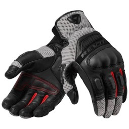 Motorcycle Leather Gloves REVIT Dirt 3 Black ,Motorcycle Leather Gloves