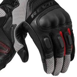 Motorrad-Handschuhe REVIT Dirt 3 Schwarz ,Motorrad Lederhandschuhe