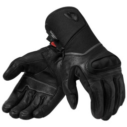 Motorcycle Leather Gloves REVIT Summit 3 H2O Black, Touring gloves