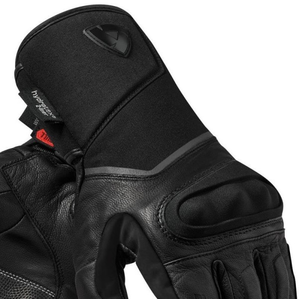 Motorcycle Leather Gloves REVIT Summit 3 H2O Black