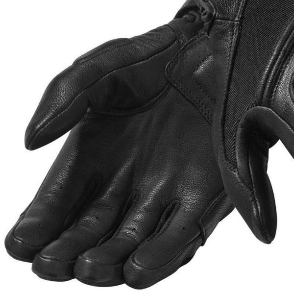 Guantes Cuero Moto REVIT Pandora Negro