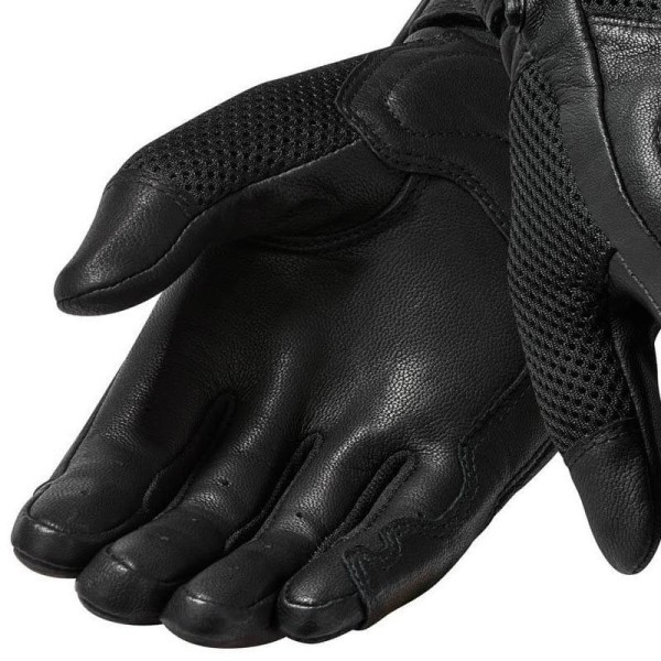 Guantes Cuero Moto REVIT Arch Negro