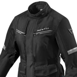 Motorcycle Fabric Jacket REVIT Outback 3 Ladies Black Silver ,Motorcycle Textile Jackets