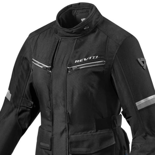 Motorrad-Stoffjacke REVIT Outback 3 Ladies Schwarz Silber