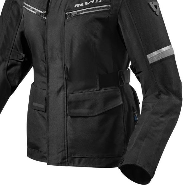 Motorcycle Fabric Jacket REVIT Outback 3 Ladies Black Silver
