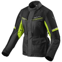 Chaqueta Tela Moto REV'IT Outback 3 Ladies Negro Amarillo Fluo