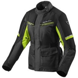 Giubbotto Moto Tessuto REVIT Outback 3 Ladies Nero Giallo Neon, Giubbotti e Giacche Tessuto Moto