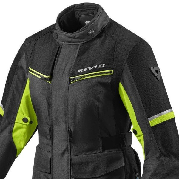 Motorcycle Fabric Jacket REVIT Outback 3 Ladies Black Neon Yellow