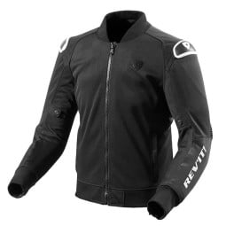 Chaqueta Tela Moto REV'IT Traction Negro Blanco
