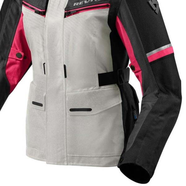 Motorcycle Fabric Jacket REVIT Outback 3 Ladies Silver Fuchsia