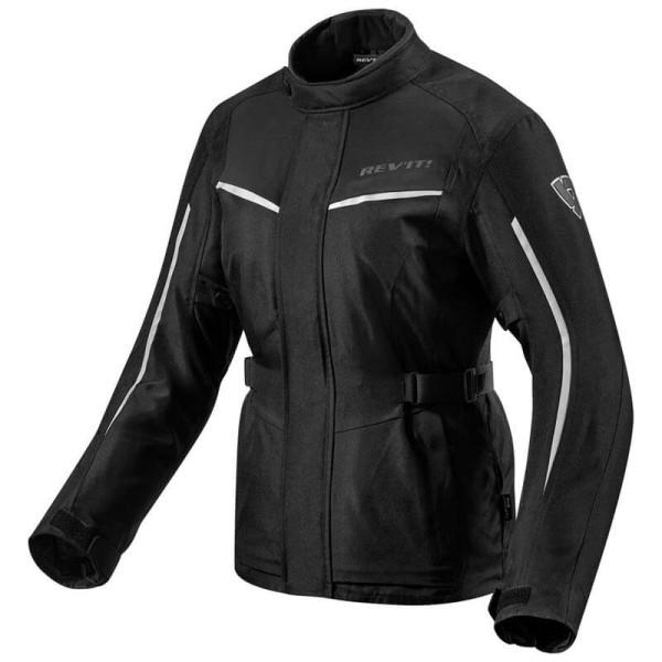 Motorcycle Fabric Jacket REVIT Voltiac 2 Ladies Black Silver