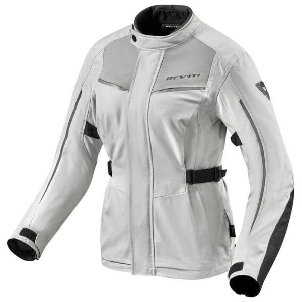 Motorcycle Fabric Jacket REVIT Voltiac 2 Ladies Silver Black