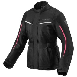 Motorcycle Fabric Jacket REVIT Voltiac 2 Ladies Black Fuchsia