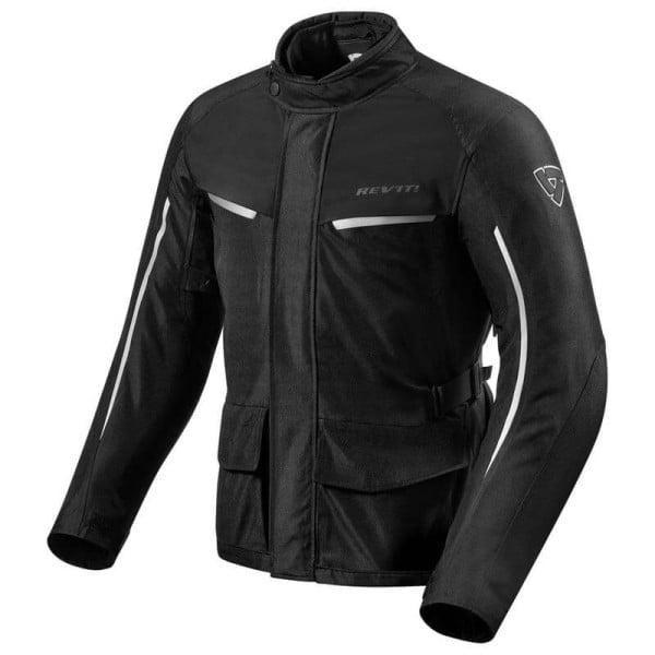 Motorcycle Fabric Jacket REVIT Voltiac 2 Black Silver