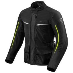 Motorcycle Fabric Jacket REVIT Voltiac 2 Black Neon Yellow ,Motorcycle Textile Jackets