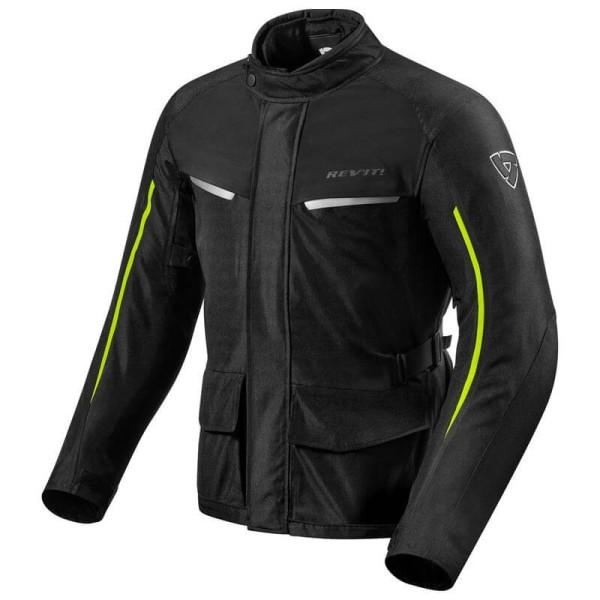 Blouson Moto Tissu REVIT Voltiac 2 Noir Jaune Fluo