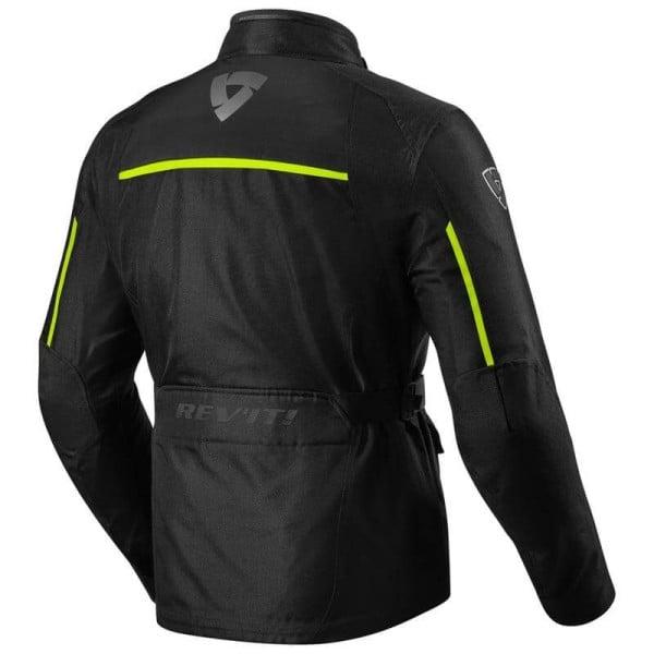 Motorcycle Fabric Jacket REVIT Voltiac 2 Black Neon Yellow