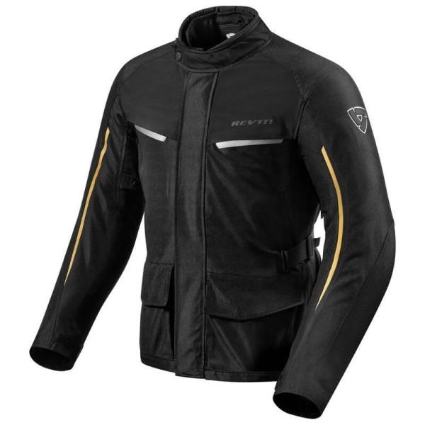 Motorcycle Fabric Jacket REVIT Voltiac 2 Black Bronze