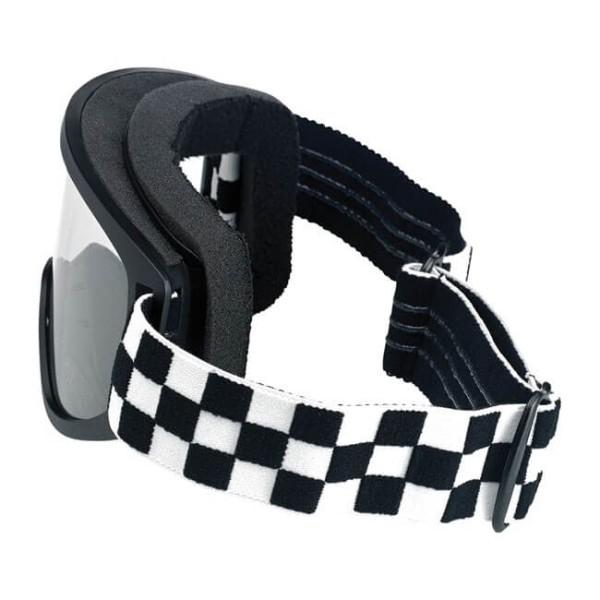 Motorradbrille BILTWELL Inc Moto 2.0 Checkers Black OTG