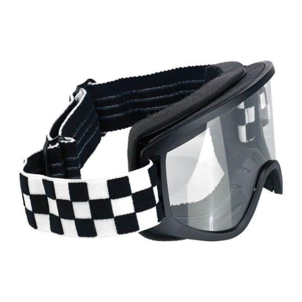 Motorcycle Goggles BILTWELL Inc Moto 2.0 Checkers Black OTG