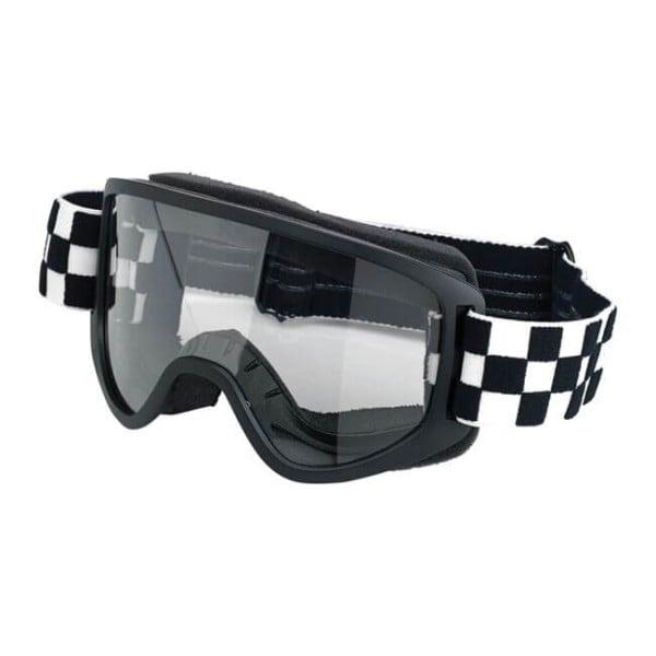 Motorcycle Goggles BILTWELL Inc Moto 2.0 Checkers Black OTG ,Motorcycle Goggles / Masks