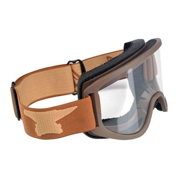 Motorcycle Goggles BILTWELL Inc Moto 2.0 Script Sand OTG