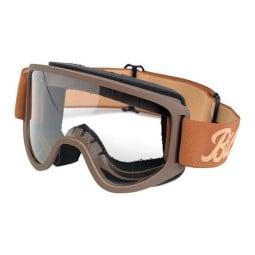 Motorradbrille BILTWELL Inc Moto 2.0 Script Sand OTG ,Motorrad Brillen / Masken