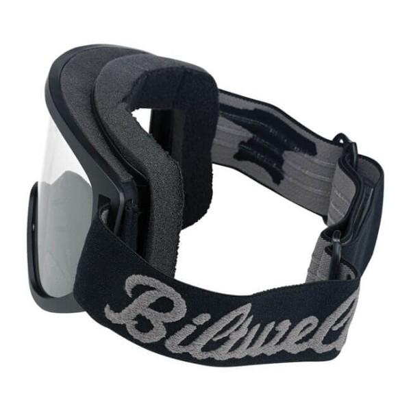 Motorradbrille BILTWELL Inc Moto 2.0 Script Black OTG