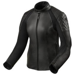 Motorcycle Leather Jacket REVIT Luna Ladies Black ,Leather Motorcycle Jackets