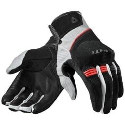 Motorcycle Gloves Leather REVIT Mosca Black Red ,Motorcycle Leather Gloves