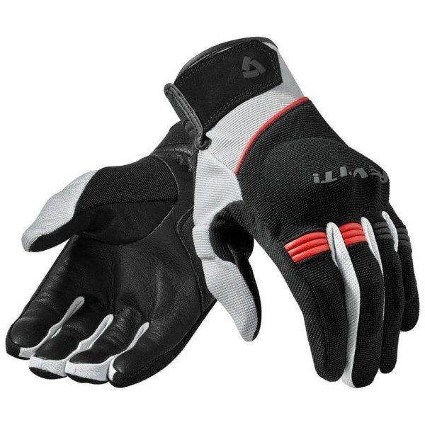 Motorcycle Gloves Leather REVIT Mosca Black Red