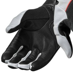 Motorcycle Gloves Leather REVIT Mosca Black Red, Summer gloves