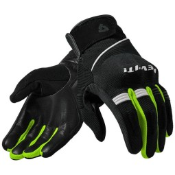 Motorcycle Gloves Leather REVIT Mosca Black Neon Yellow ,Motorcycle Leather Gloves