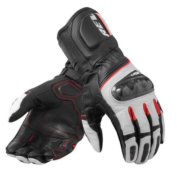 Motorcycle Leather Gloves REVIT RSR 3 Black Red