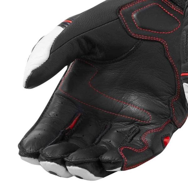 Guantes Cuero Moto REVIT RSR 3 Negro Rojo