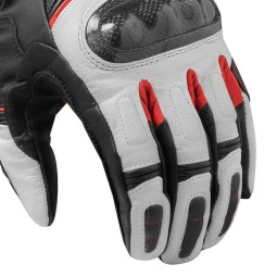 Motorcycle Leather Gloves REVIT RSR 3 Black Red ,Motorcycle Leather Gloves