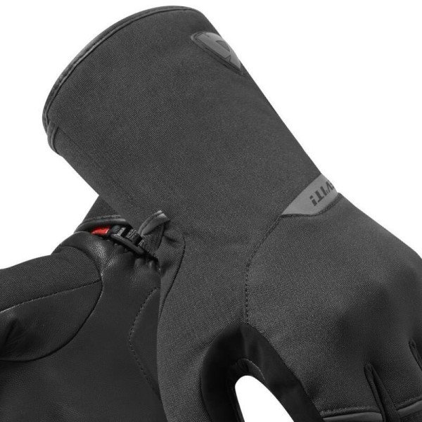 Motorcycle Gloves Fabric REVIT Mosca Black Red