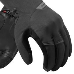 Gants moto en Tissu REVIT Mosca Noir Rouge ,Gants Moto Tissu