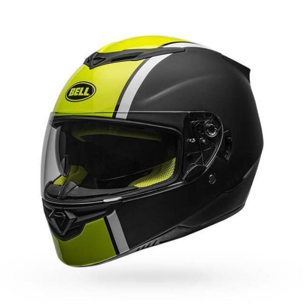 Motorcycle Helmet Full Face BELL HELMETS RS-2 Rally Black Hi Viz