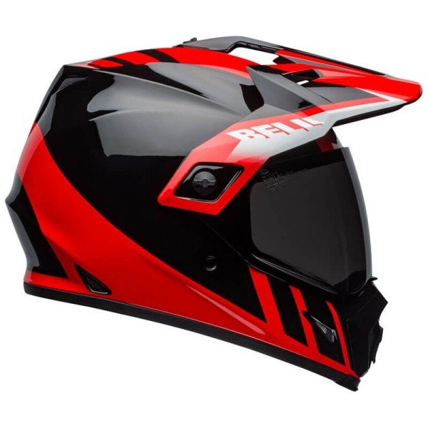 BELL HELMET MX-9 ADVENTURE MIPS DASH BLACK//WHITE//ORANGE M