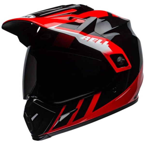 Casco Moto Off Road Bell Helmets MX-9 Adventure Mips Dash Red