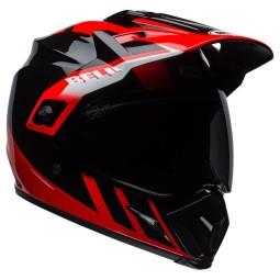 Casco Moto Off Road Bell Helmets MX-9 Adventure Mips Dash Red, Cascos Enduro